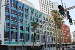 Tel Aviv beachfront building