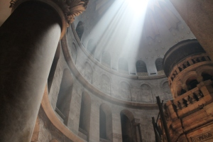 Sunlight in the Church of the Holy Sepulchre