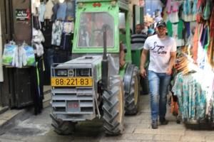 Tractor, Muslim Quarter, Jerusalem Old CIty