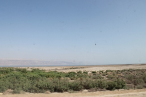 The Dead Sea comes into view