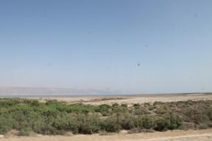 The Dead Sea comes into view