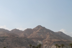 The dry dusty beauty of the mountains on the west coast of the Dead Sea