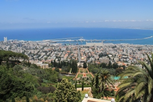 View over Haifa from the Baha'í Gardens