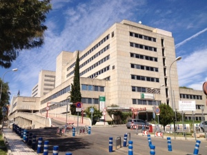 The Hospital Materno-Infantil in Málaga, where we were based for a week