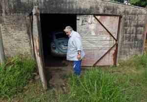 José Mújica outside his garage on his farm (Reuters)
