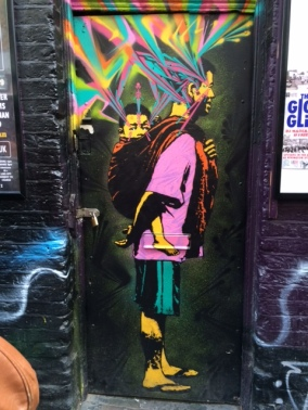A piece by Colombian artist Stinkfish in East London