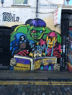 A piece by Italian artist SOLO in East London